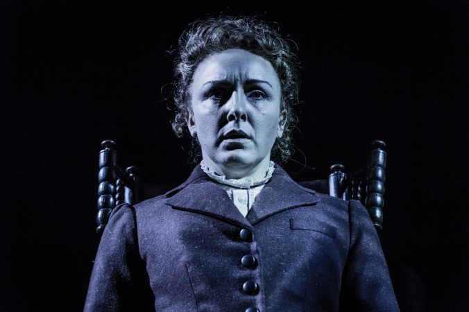 A scene from Turn of the Screw by Henry James (adapted by Tim Luscombe) at the Mercury Theatre Colchester. Directed by Daniel Buckroyd. Designed by Sara Parks. Lit by Matt Leventhall.