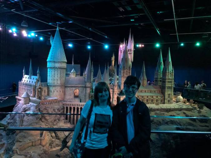 The last photo shows me and my girlfriend standing in front of the Hogwarts castle (my favourite photo!)